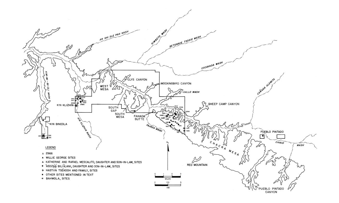1a7c0f3bc298 Map of Chaco Culture National Historical Park showing the Chaco Additions  survey areas and Navajo sites discussed in the ethnohistoric study.